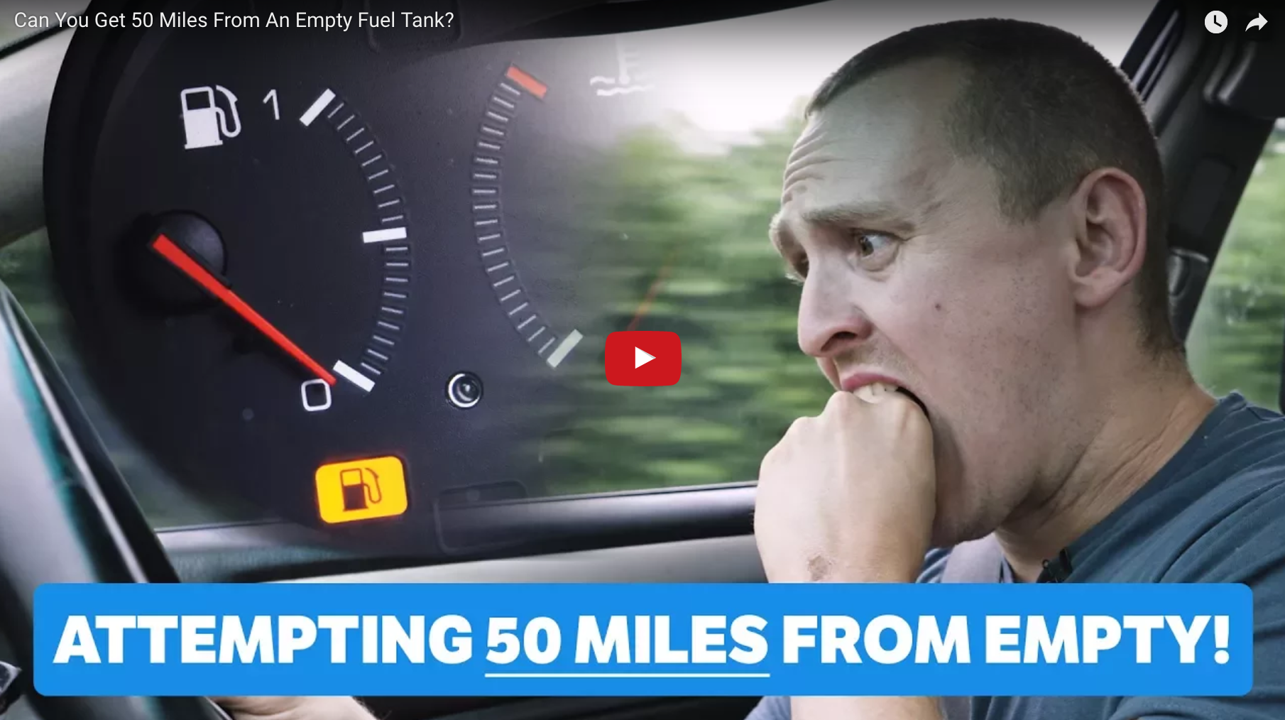How far can you drive after the fuel warning goes off?
