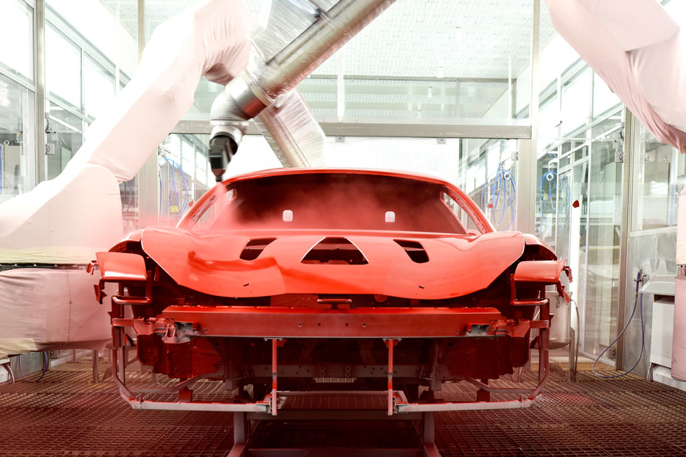 Ferrari Introduces its New Low Temperature Painting System