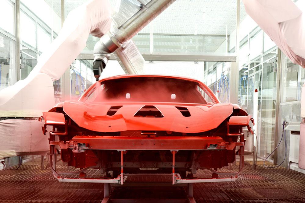 فيراري تطلق تقنية تجفيف طلاء السيارات بدرجة حرارة منخفضة