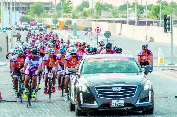 المناعي تفوز برعاية سباق أبطال الدراجات