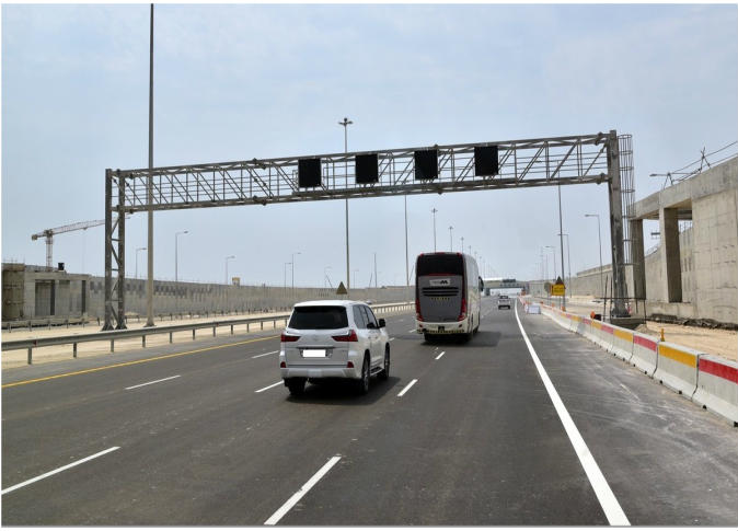 """Ashghal"" opens the southern part of Doha Expressway and Hamad Port Road"