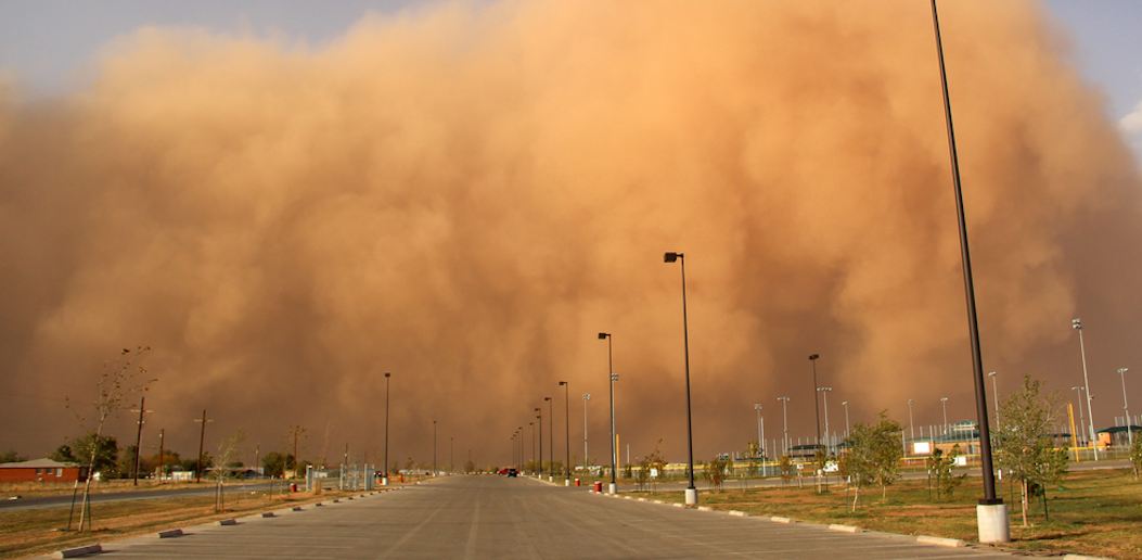 Met department warns: a dust storm hits and affects the visibility of drivers
