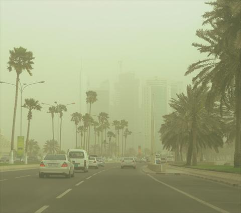 The dust and low visibility will last until Monday