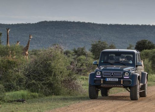 Video.. Mercedes-Maybach G650 Landaulet in Africs
