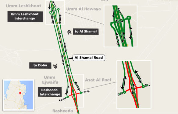 Rasheeda junction on Al Shamal Road to close starting tomorrow