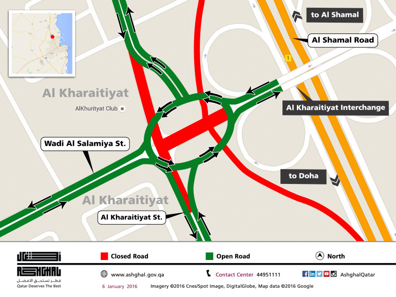Al Shamal Road will see some diversions during 2016