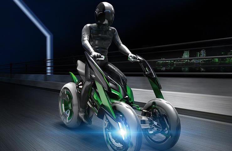 Kawasaki reveals a futuristic superbike
