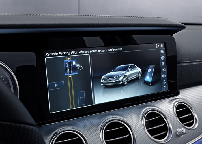 Mercedes A-Class with a voice command feature