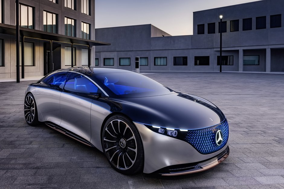 Mercedes-Benz Vision EQS Lights Up The Night In Frankfurt