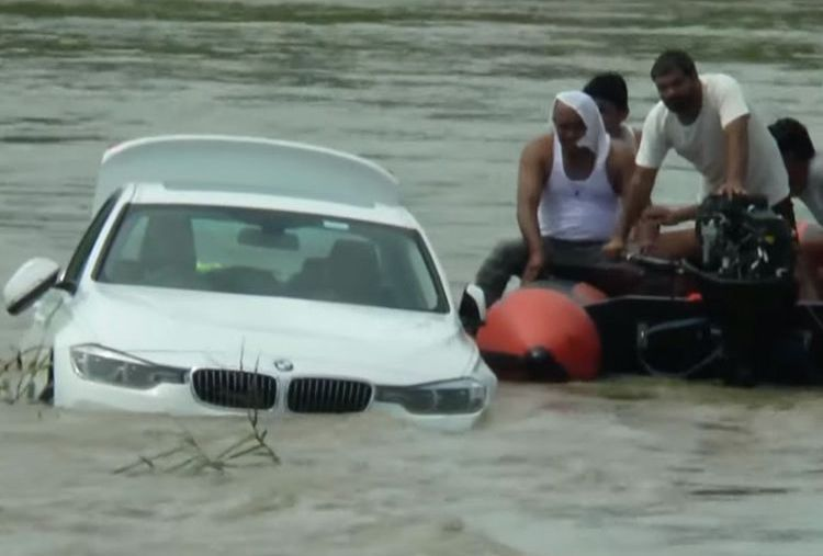 He asked for a  Jaguar but received a BMW. Hence he drowned it