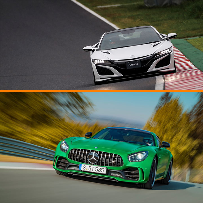 Watch: Honda (Acura) NSX Vs. Mercedes-AMG GT R