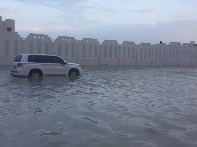 Video.. Two hours of rain floods Doha