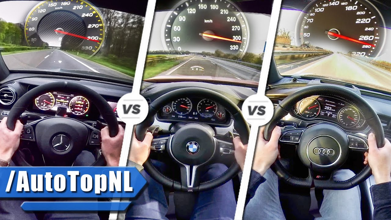 Watch: A performance race between E63 S AMG VS BMW M5 VS Audi RS7