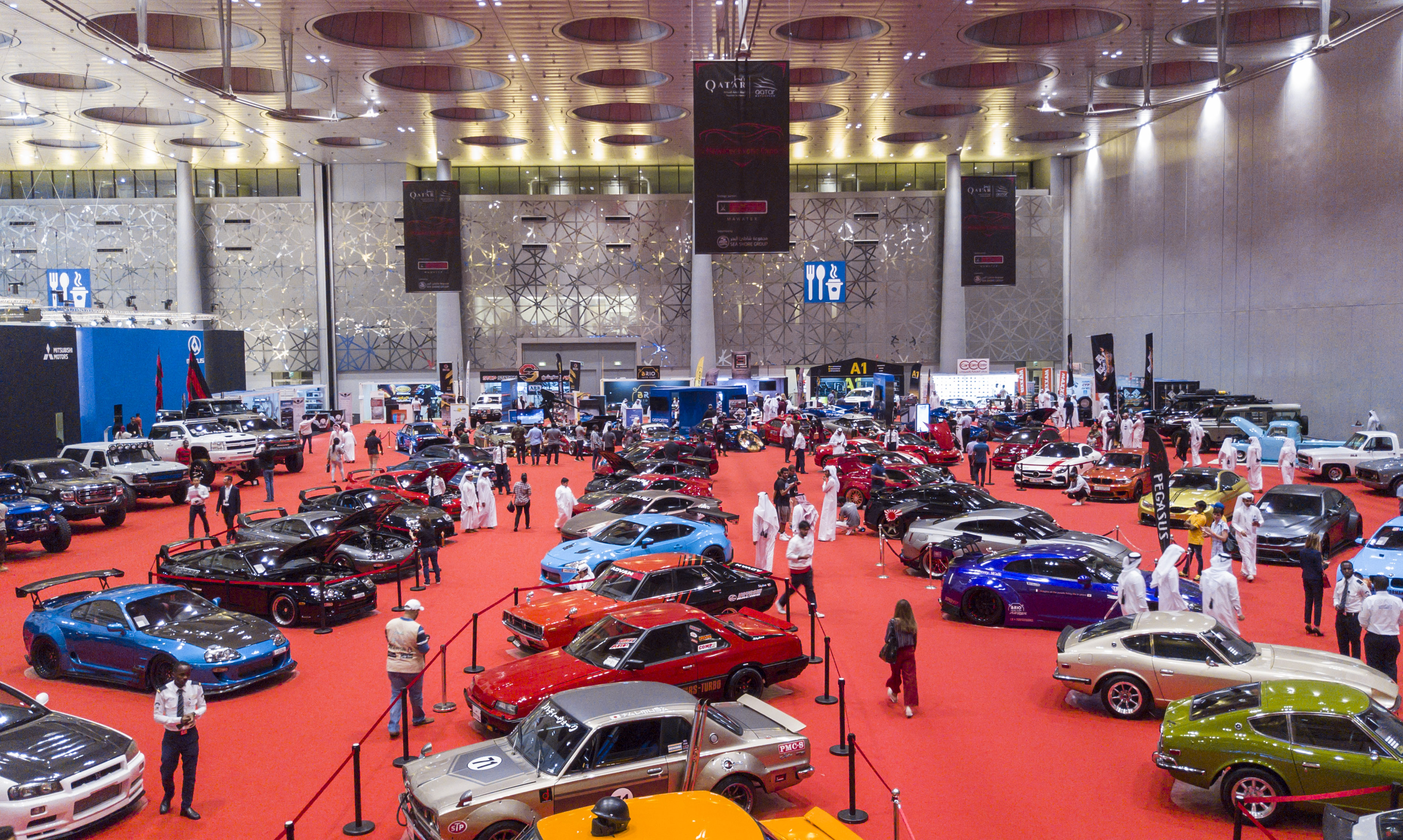 Mawater's Classic & Modified cars Enrich QMS Visitors' Experience