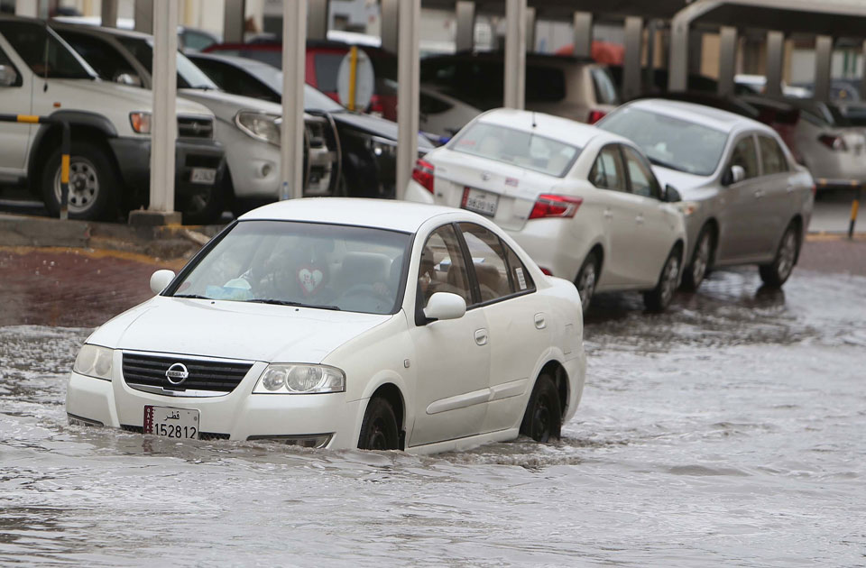 No compensation for cars affected by the rain fall in Qatar