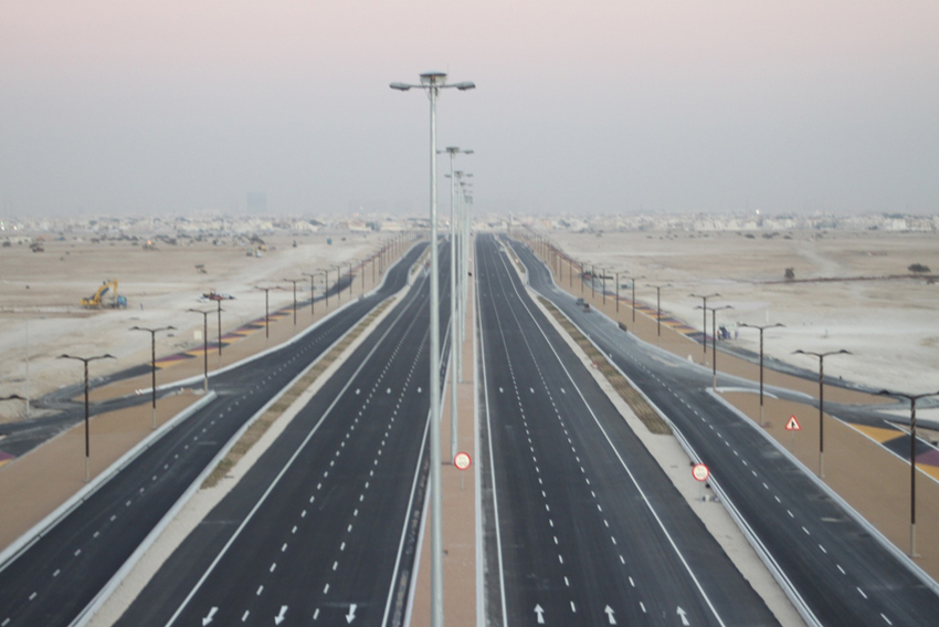 Ashghal completed a survey of all roads in Qatar