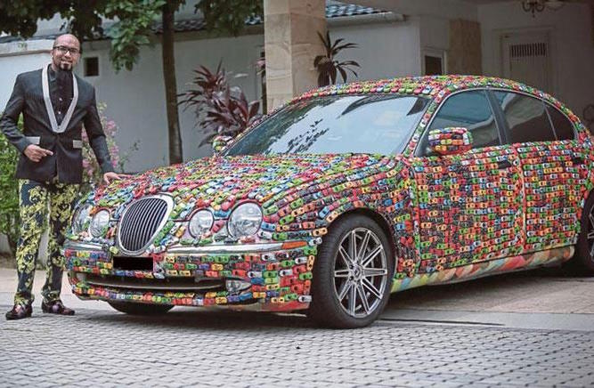 Malaysian Businessman Covers His Jaguar Entirely in Toy Cars