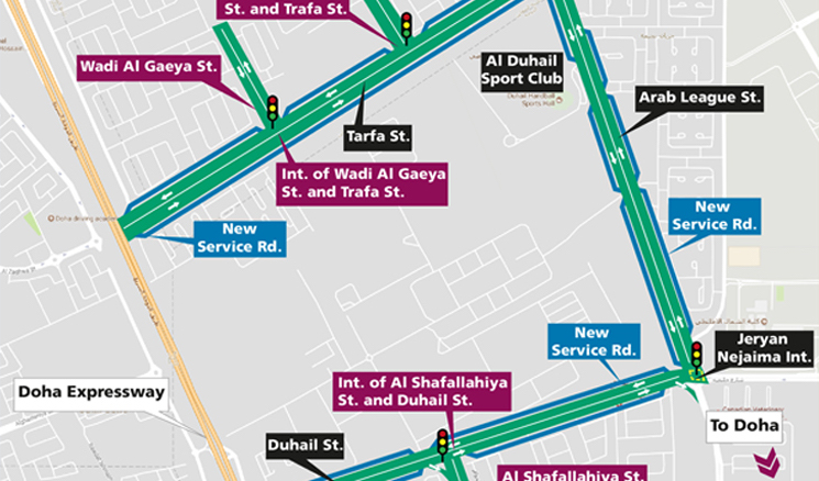 Streets Surrounding Duhail Sports Club are now complete