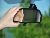 Adjust your car mirror perfectly to avoid blind spots