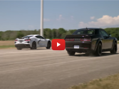 Corvette Vs Dodge Demon Drag Race .. Unexpected result!