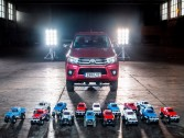 Interesting Video: Small 15 Toyota Hilux RC cars pulling the real thing