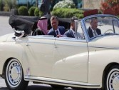 What is the car that picked up King Salman in Jordan