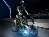 بالفيديو .. شركة يابانية تكشف عن دراجة نارية