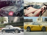 The most expensive luxury car, abandoned in street