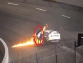 Watch: FATHER RESCUES SON FROM BURNING RACE CAR