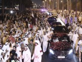 Video and pictures .. Emir's parade on Doha Corniche