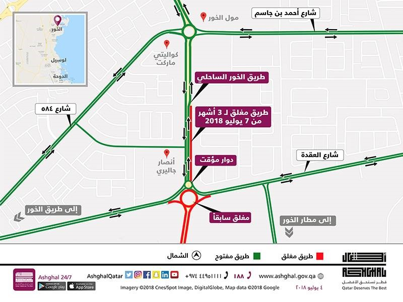 Qatar: A diversion to the opposite side of Al Khor Coastal