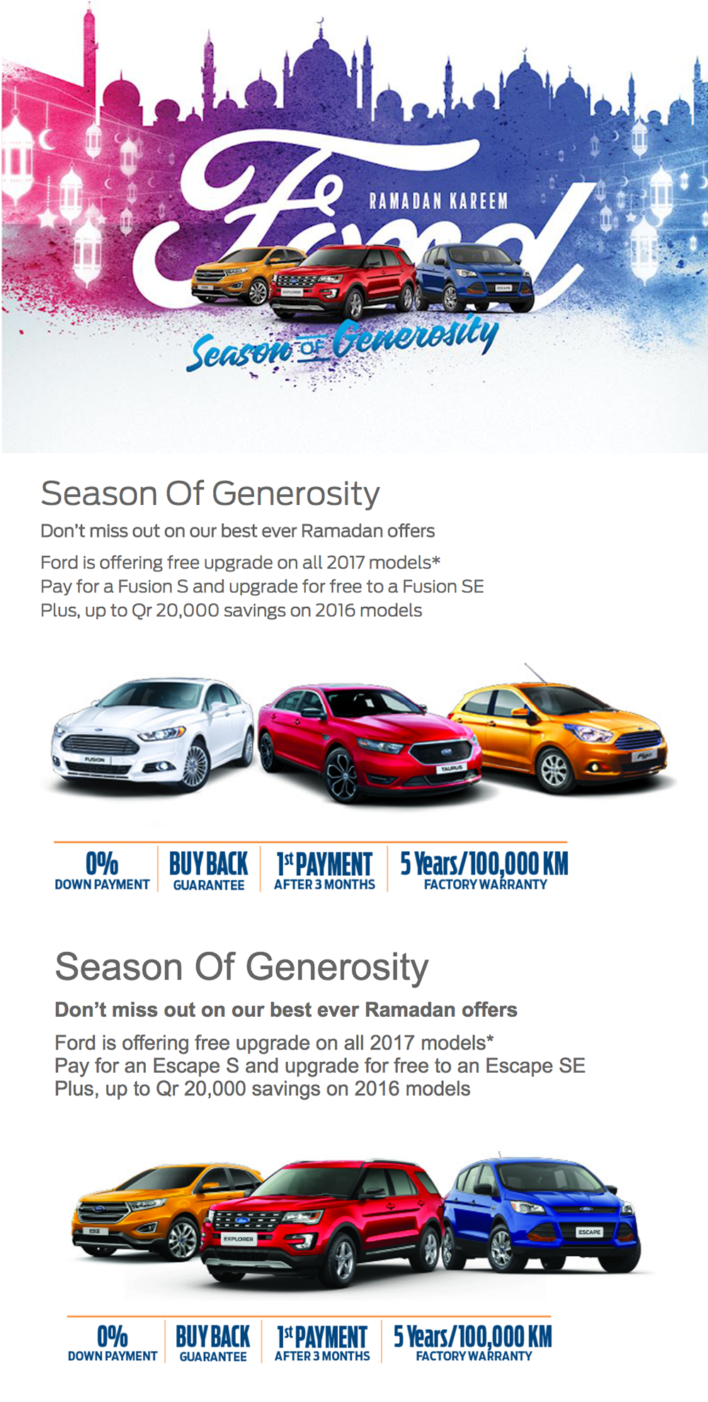 Ramadan Offers From Car Dealers In Qatar Q Motor