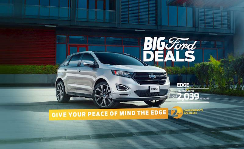 Al Mana Motors In Qatar Has Something To Offer Car Buyers This Month The Big Ford Edge Deals